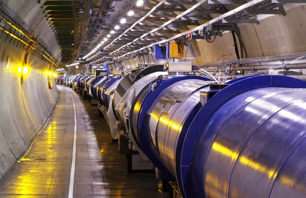 Sezione del Large Hadron Collider (LHC)