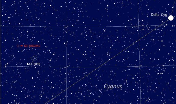 """la """"mappa stellare"""" di KCI 8.462.852"""